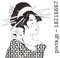 女性 美人 鳥高斎栄昌のイラスト 18216667