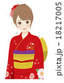 着物 女性 正月のイラスト 18217005