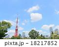 東京タワー 青空 雲の写真 18217852