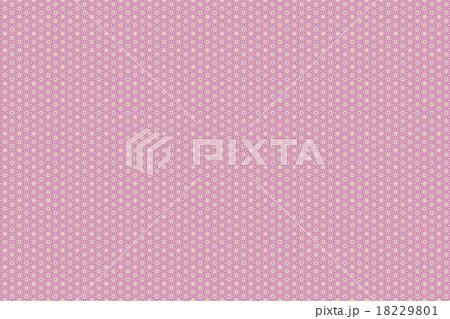 和柄背景素材 麻の葉模様 赤紫 18229801