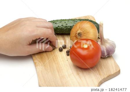 vegetables on the white backgroundの写真素材 [18241477] - PIXTA