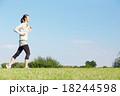 女性 ランニング ジョギングの写真 18244598