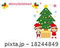 クリスマスカード イラスト 可愛い 18244849
