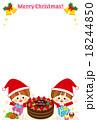 クリスマスカード イラスト 可愛い 18244850