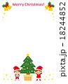 クリスマスカード イラスト 可愛い 18244852