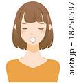 困る女性 18250587