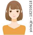 困った笑顔の女性 18250618
