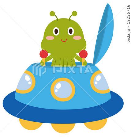宇宙人と宇宙船のイラスト素材 18256716 Pixta