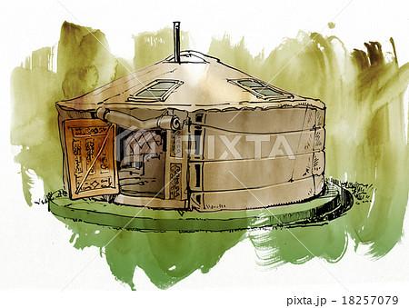 パオ-モンゴルの住居 18257079