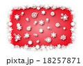 背景素材壁紙,雪の結晶,白,ホワイト,冬,スノー,クリスマス,新年,年末,年賀状素材,行事,冬景色, 18257871