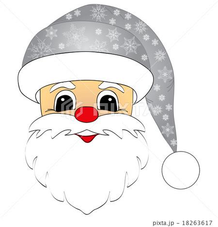 Santa Claus head isolatedのイラスト素材 [18263617] - PIXTA