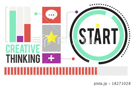 Start Begining Forward Direction Motivation Conceptのイラスト素材 [18271028] - PIXTA
