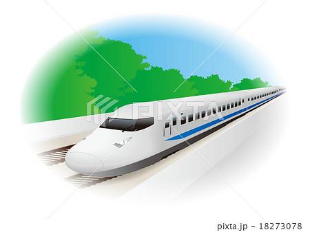 新幹線イラスト背景ありaのイラスト素材 18273078 Pixta