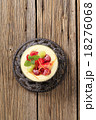 Pudding and fruit 18276068