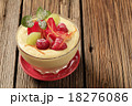 Pudding and fruit 18276086