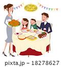 クリスマスパーティーをする家族 18278627