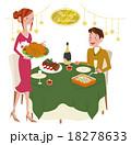 クリスマスパーティーをするカップル 18278633