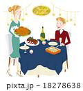 クリスマスパーティーをするカップル 18278638