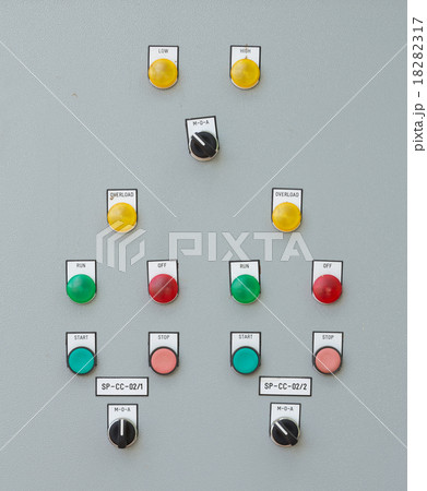industrial switching button control panelの写真素材 [18282317] - PIXTA