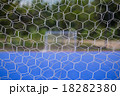 Goal net with blurred of futsal court 18282380