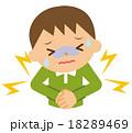 腹痛 子供 下痢のイラスト 18289469
