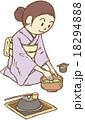 お茶を点てる女性 18294888