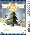 クリスマス クリスマスツリー サンタのイラスト 18300014