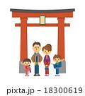 初詣の家族【三頭身・シリーズ】 18300619