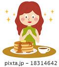 パンケーキと女性 18314642