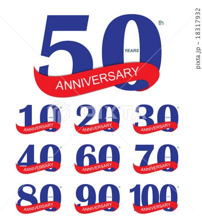 template logo 30th anniversary vector illustrationのイラスト素材