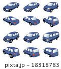 乗用車のイラスト[紺] 18318783