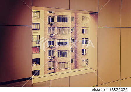 Retro grungy toned windows in window.の写真素材 [18325025] - PIXTA