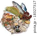 魚 魚介類 食材のイラスト 18327317