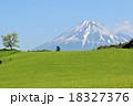 富士山 山 茶畑の写真 18327376