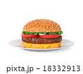 ハンバーガー バーガー ご飯のイラスト 18332913