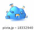 クラウド ファイル 記憶装置のイラスト 18332940