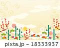 背景素材-初春模様a-4 18333937