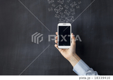 Smart Phone Front of Blackboard