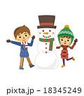 子供と雪だるま【三頭身・シリーズ】 18345249