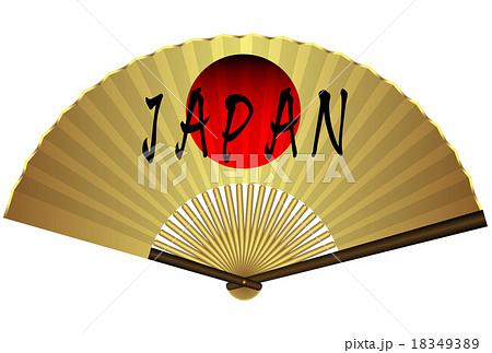 扇子 金  日の丸  JAPAN 18349389