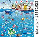 魚釣りの迷路 18352622
