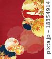 紅葉 和柄 背景素材のイラスト 18354914