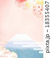 桜 富士山 背景素材のイラスト 18355407