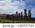 世界遺産 イースター島 モアイ像の写真 18355744