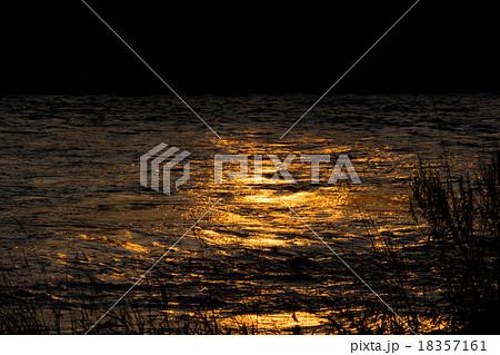 川面に映る夕陽 18357161