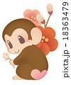 猿と梅 18363479