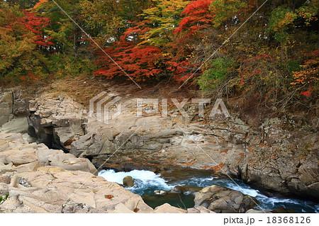 紅葉の厳美渓 18368126
