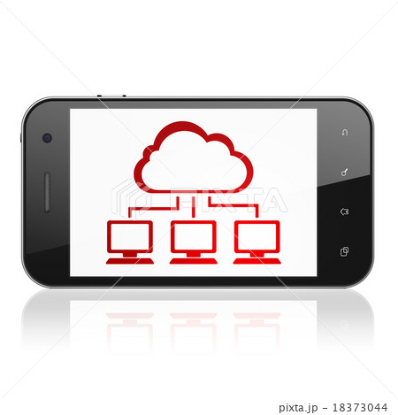 Cloud technology concept: Smartphone with Cloudのイラスト素材 [18373044] - PIXTA
