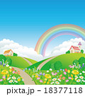 春の草原 18377118