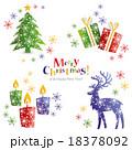 クリスマス グリーティング クリスマスカードのイラスト 18378092